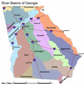 Georgia River Basins. From (https://extension.uga.edu/publications/detail.html?number=B1385&title=Water%20Issues%20in%20Georgia:%20A%20Survey%20of%20Public%20Perceptions%20and%20Attitudes%20about%20Water)
